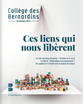 "#COLORIAL ""Colorial"" on the cover of the the Collège des Bernardins, summer issue magazine, themed ""the links that liberate us"""